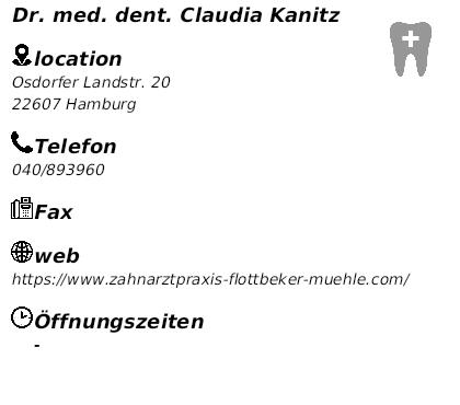 Zahnarzt Osdorfer Landstraße dr med dent kanitz zahnärzte kieferärzte in hamburg