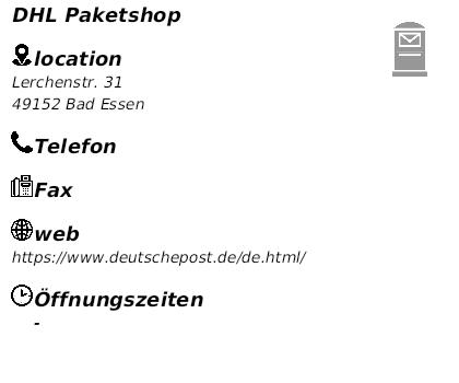 Dhl Paketshop Essen : dhl paketshop in bad essen ffnungszeiten ~ A.2002-acura-tl-radio.info Haus und Dekorationen