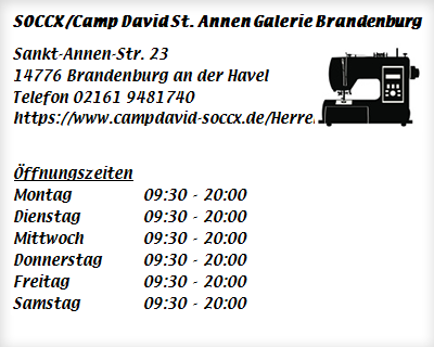 super cheap cute new high quality SOCCX/Camp David St. Annen Galerie Brandenburg ▷ Textil ...