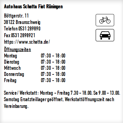 autohaus schatta fiat r ningen in braunschweig. Black Bedroom Furniture Sets. Home Design Ideas