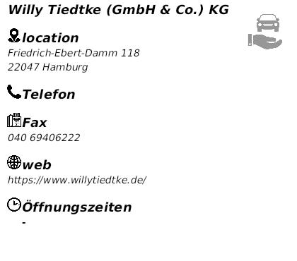 Willy Tiedtke Gmbh Co Kg In 22047 Hamburg Wandsbek Friedrich