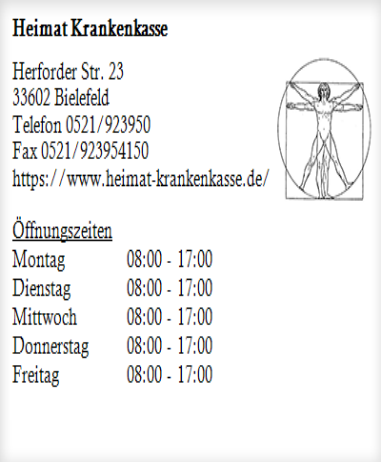 Heimat Krankenkasse In Bielefeld Mitte Offnungszeiten