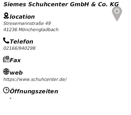 93e6353913999e Angebote Siemes Schuhcenter Mönchengladbach Stresemannstraße ...